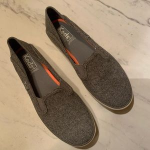 Keds | Gray Wool Slip On Sneakers | 6